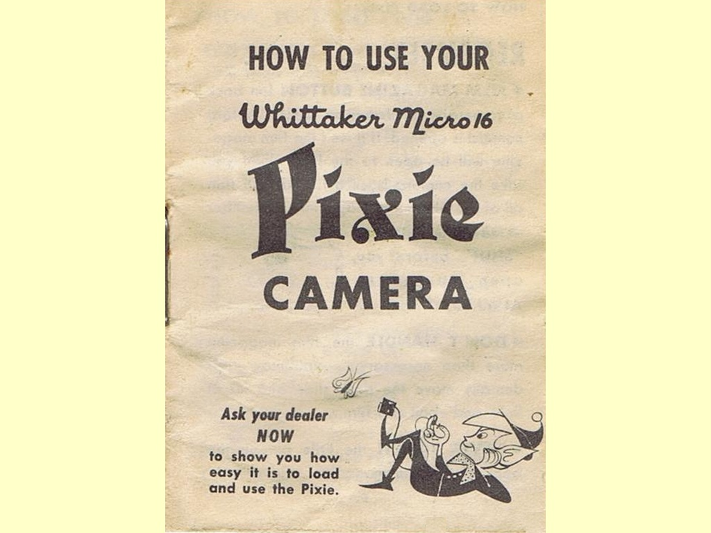 How to use your Whittaker Micro 16 Pixie Camera  -  unbekannt